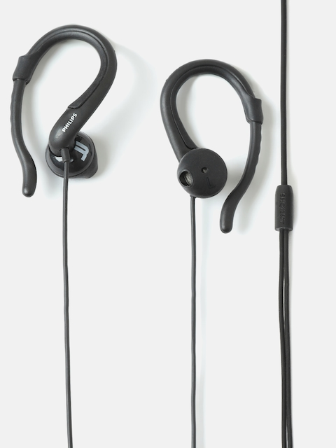 Philips Unisex Black ActionFit Wired Earphones SHQ1250TBK/00
