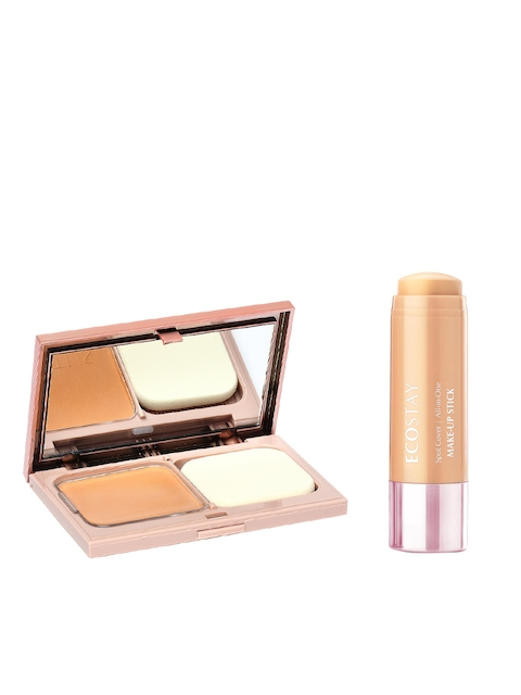 Lotus Herbals Set Of Make-up Naturalblend Botanical Compact & All in One MakeUp Stick