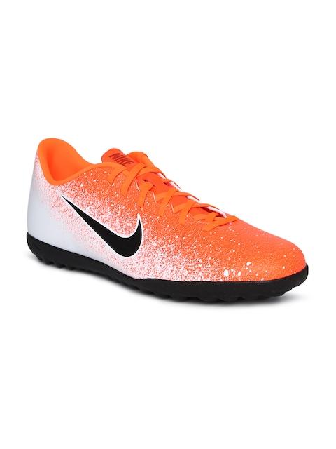 Nike Men Orange & White Vapor 12 Club TF Football Shoes