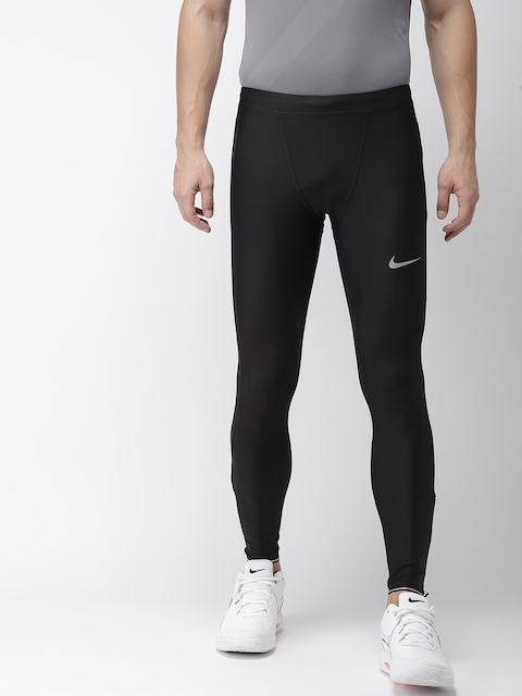 Nike Men Black Solid Tight Fit AS M NK RUN MOBILITY Dri-FIT Tights