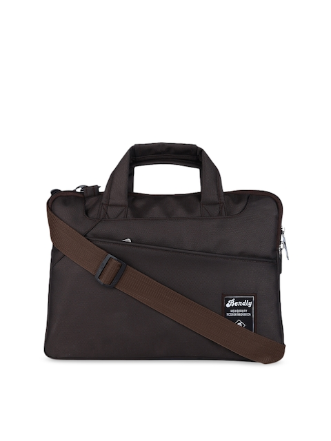 Bendly Unisex Brown Solid Laptop Sleeve
