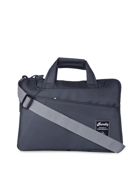 Bendly Unisex Grey Solid Laptop Sleeve