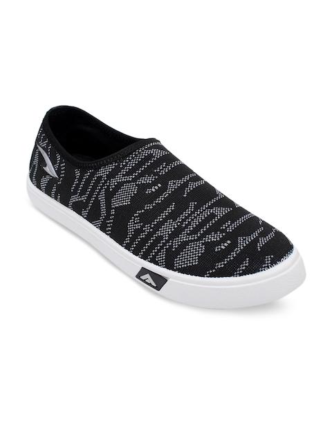 ASIAN Men Grey & Off-White Walking Shoes