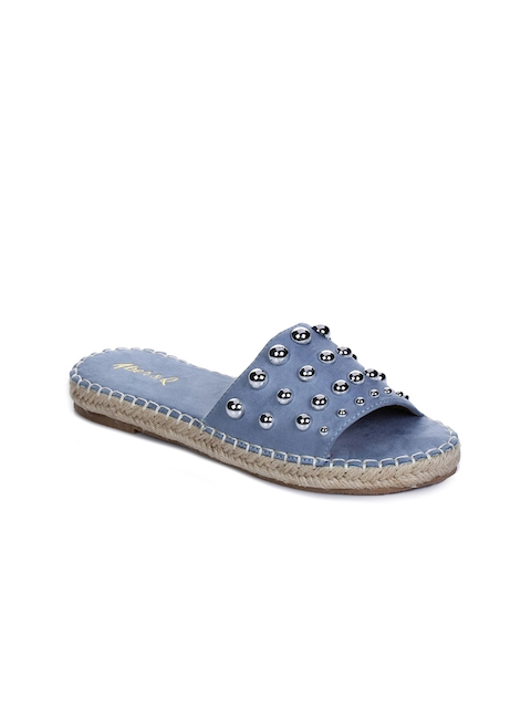 Aber & Q Women Blue Solid Open Toe Flats