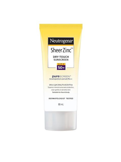 Neutrogena Sheer Zinc Dry Touch SPF50+ Sunscreen 80 ml