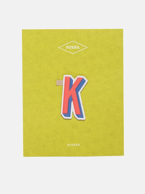 Fossil Pink K Letter Sicker for Wallets & Notebooks