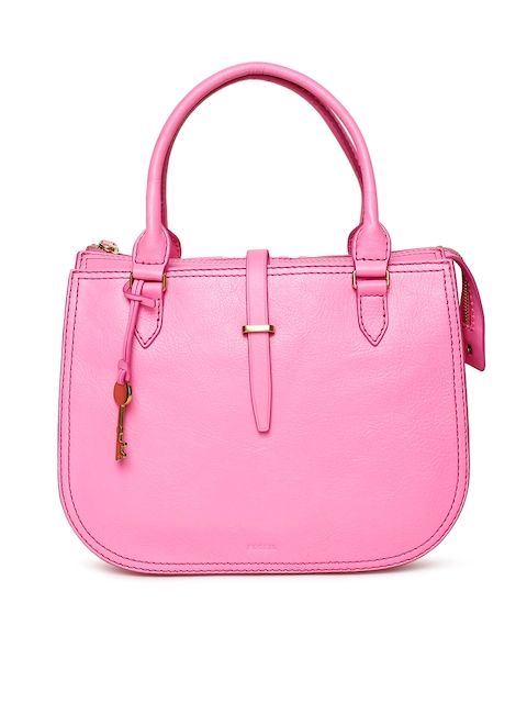 Fossil Pink Solid Handheld Bag