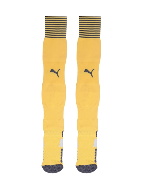 Puma Men Yellow Patterned Knee-Length Socks