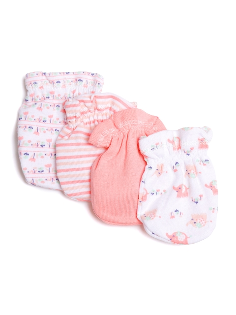Mothers Choice Kids Pack of 4 Printed No-Scratch Mittens