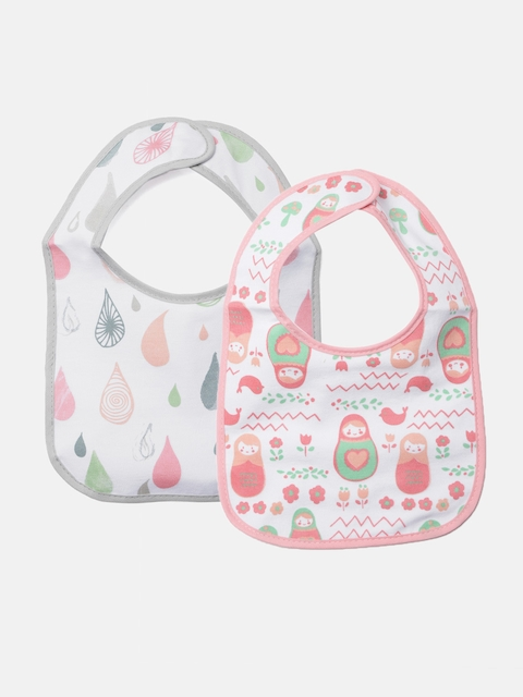 d9b49cef8339f 35%off Mothers Choice Kids Pack of 2 Printed Bibs