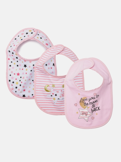 Mothers Choice Girls Pack of 3 Bibs
