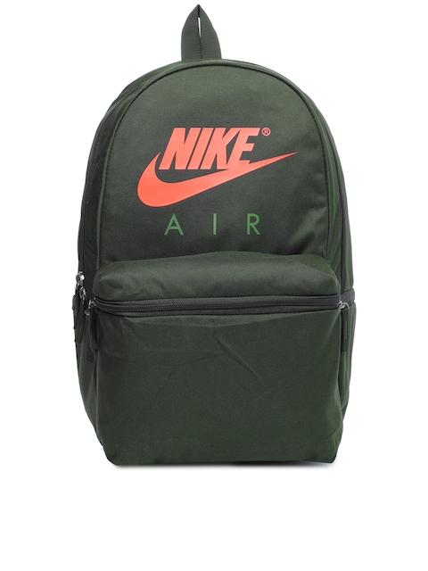 Nike Unisex Green Brand Logo Air Backpack