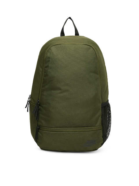 Nike Unisex Green Solid Classic North Backpack