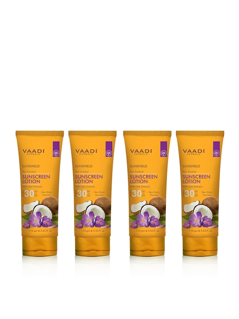 Vaadi Herbals Unisex Pack of 2 Tan Control Lilac Extract SPF 30 Sunscreen Lotion 110 g