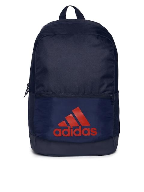 ADIDAS Unisex Navy Blue Clas BOS Brand Logo Backpack