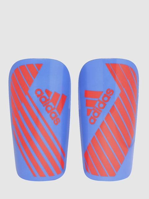 ADIDAS Unisex Set of 2 Blue & Red X LESTO Striped Football Shin Guards