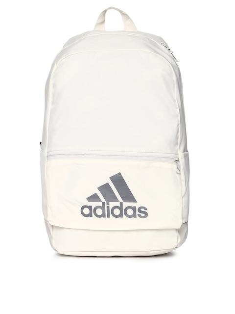 ADIDAS Unisex Off-White Classic BOS Brand Logo Backpack