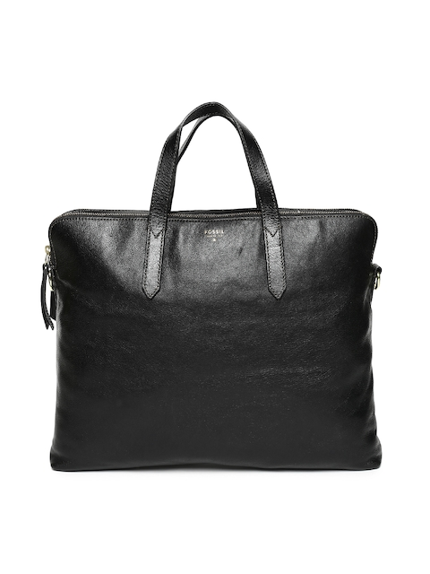 Fossil Black Leather Handheld Bag