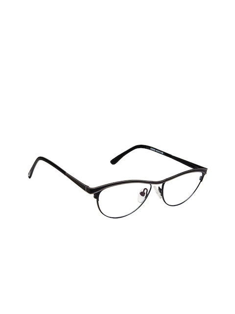 Cardon Women Black Solid Full Rim Cateye Frames EWCD2079MGM8009MBLK