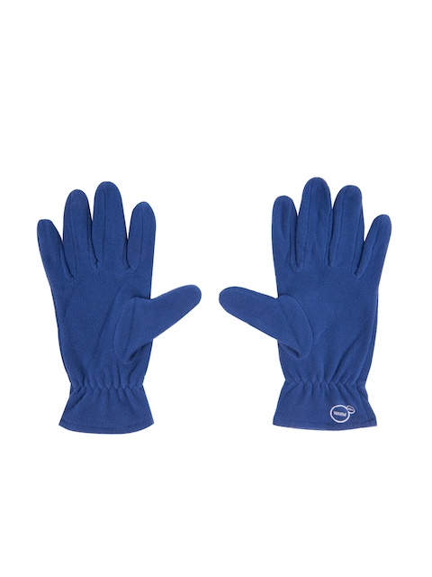 Puma Unisex Blue fleece gloves