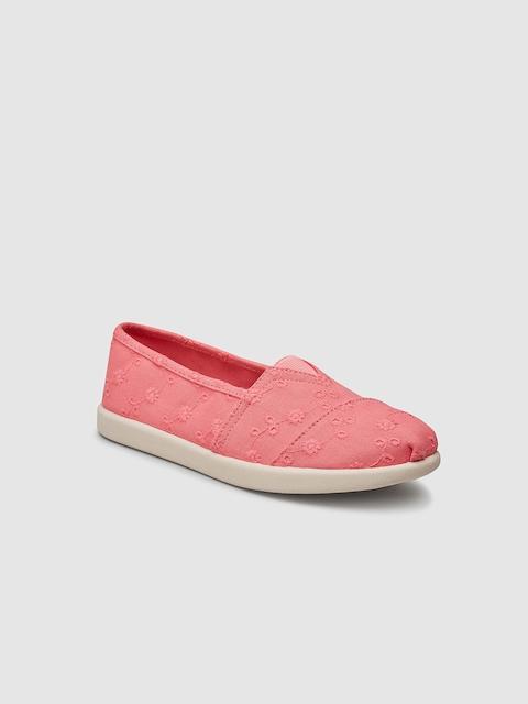 next Girls Pink Woven Design Espadrilles