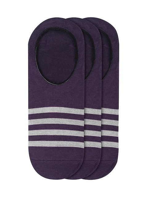 JUMP USA Women Pack of 3 Purple Solid Shoe Liners