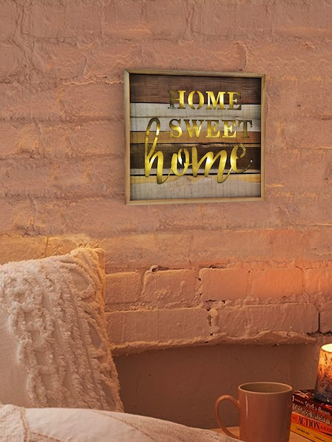 Archies Brown & Gold-Toned Wooden Wall Art