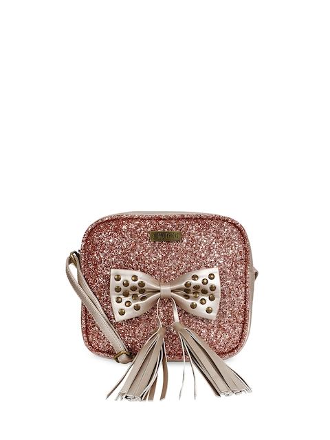 3 Mad Chicks Women Pink Embellished Sling Bag