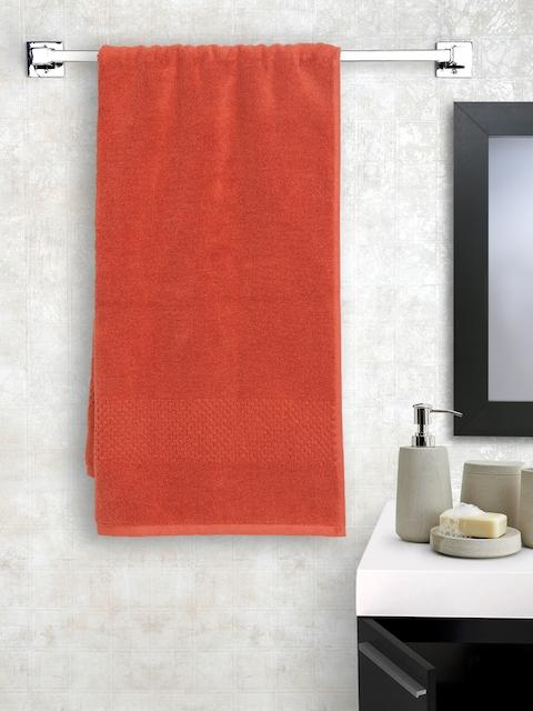 SPACES Women Rust Orange Cotton 450 GSM Swift Dry Bath Towel