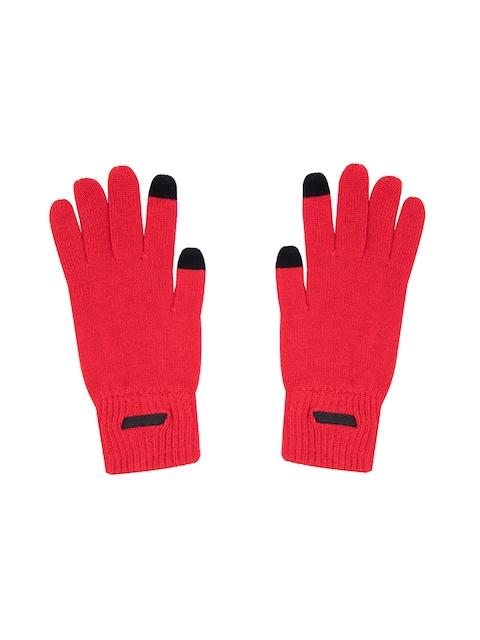 Puma Unisex Red Solid FERRARI LS Knitted Gloves