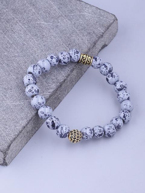 Dare by Voylla Men Blue Brass-Plated Handcrafted Link Bracelet