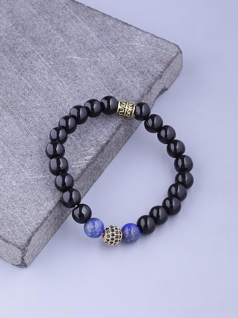 Dare by Voylla Black Brass Brass-Plated Handcrafted Link Bracelet