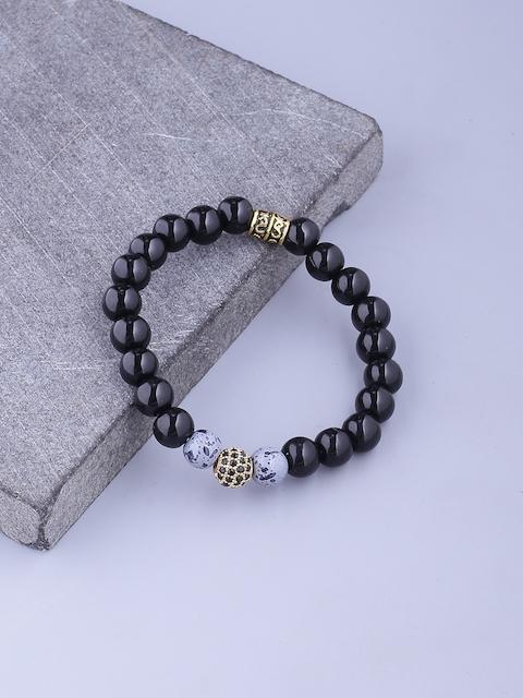 Dare by Voylla Men Black Brass-Plated Handcrafted Link Bracelet