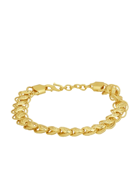 Dare by Voylla Men Gold-Toned Brass-Plated Handcrafted Link Bracelet