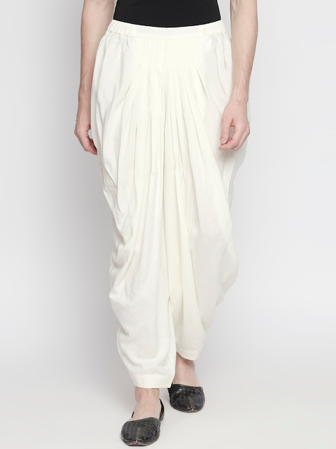 Indus route by Pantaloons Men White Solid Salwar