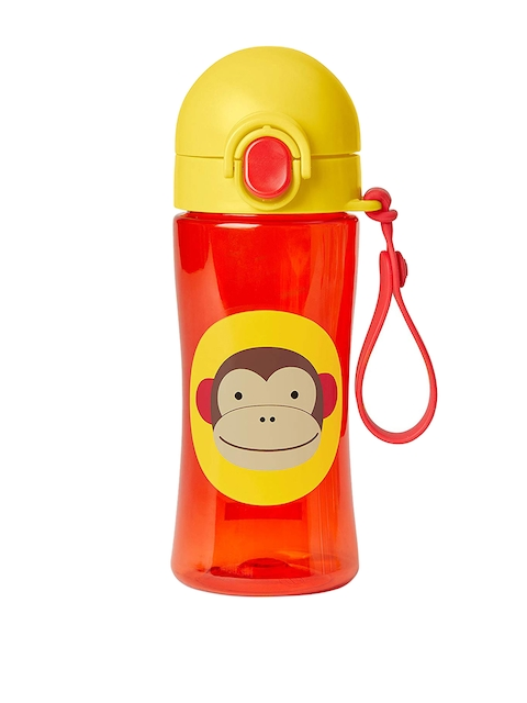 SKIP HOP Kids Red & Yellow Colourblocked Sipper Water Bottle