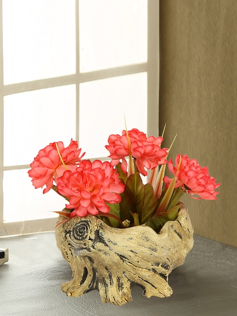 Aapno Rajasthan Beige Ceramic Flower Vase