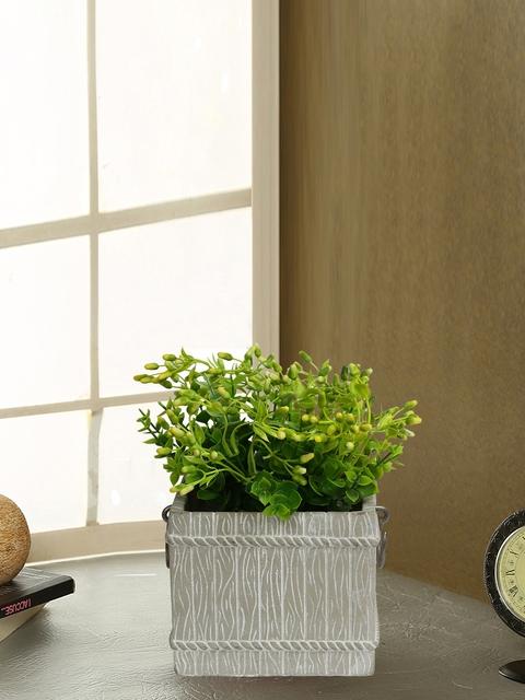 Aapno Rajasthan Grey Ceramic Flower Vase