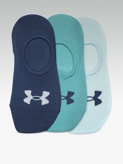 UNDER ARMOUR Women Pack of 3 Blue Essential Ultra Low Solid Shoe Liners