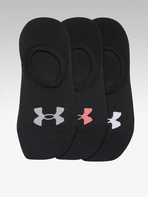 UNDER ARMOUR Women Pack of 3 Black Essential Ultra Low Solid Shoe Liners
