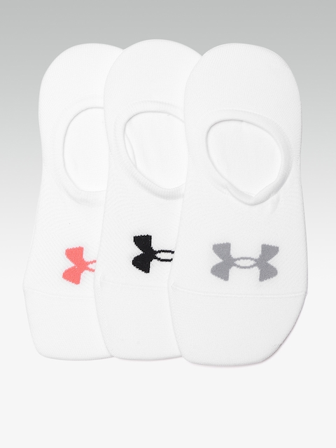 UNDER ARMOUR Women Pack of 3 White Essential Ultra Low Solid Shoe Liners
