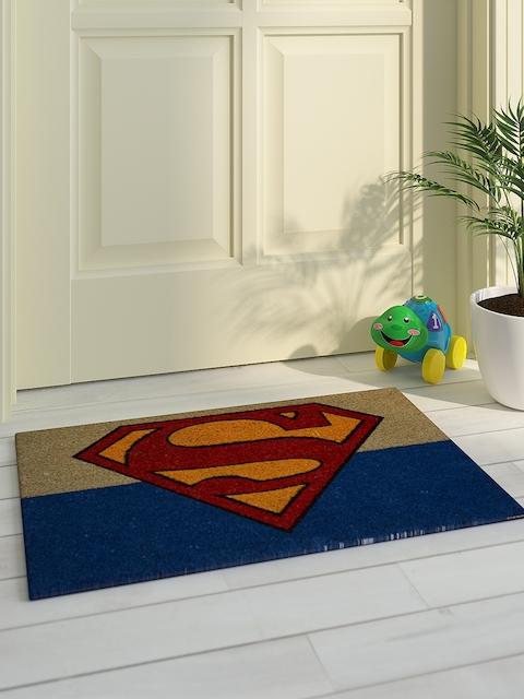 Saral Home Kids Beige & Multicoloured Printed Superman Doormat