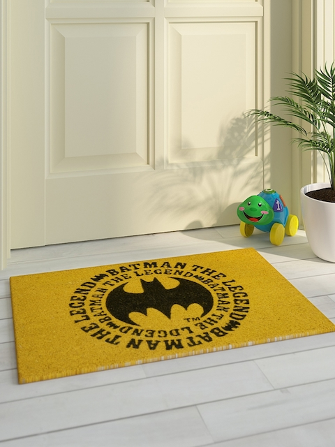 Saral Home Kids Yellow & Black Printed Batman Doormat