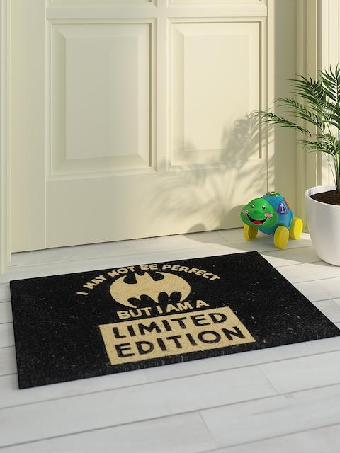 Saral Home Unisex Black & Beige Printed Batman Doormat