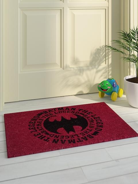 Saral Home Kids Pink & Black Printed Batman Doormat