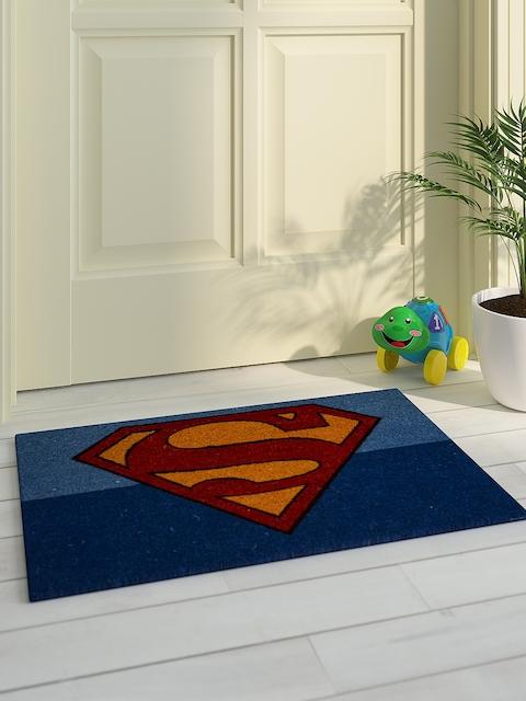 Saral Home Kids Blue & Multicoloured Printed Superman Doormat