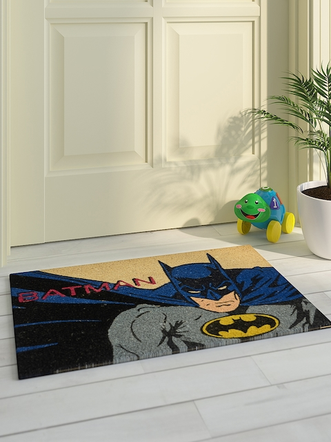 Saral Home Kids Multicoloured Printed Batman Doormat