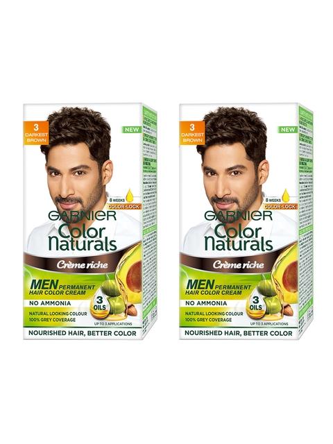 Garnier Color Naturals Men Set of 2 Darkest Brown Hair Colour 3