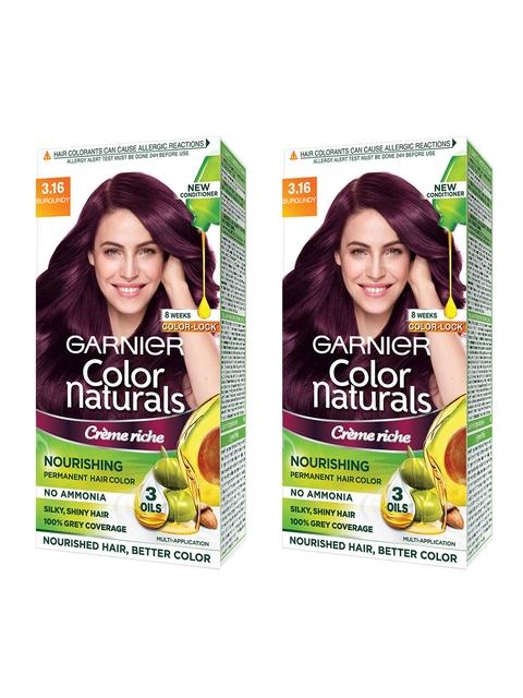 Garnier Women Set of 2 Burgundy Color Naturals Hair Colour 3.16