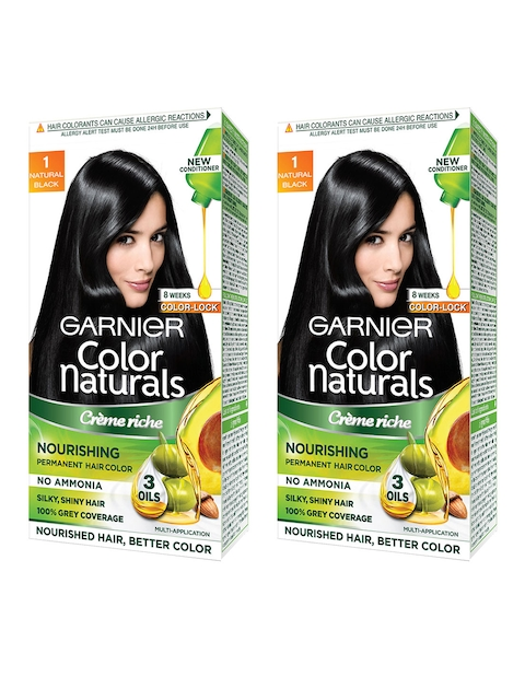 Garnier Women Set of 2 Natural Black Color Naturals Hair Colour 1